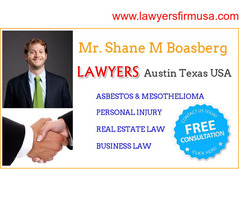 Mr Shane M Boasberg Asbestos & Mesothelioma Lawyer at Austin Texas
