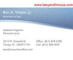 Vinson Mesothelioma Law Firm Tampa